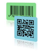 online runde bar code qr codes etiketten aufkleber. Black Bedroom Furniture Sets. Home Design Ideas