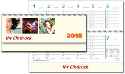 Kalender 2019 druck bestellen und drucken for Schreibtisch querkalender